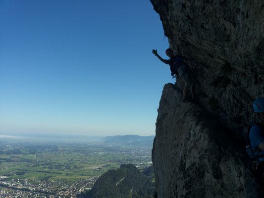 Klettersteig Via Kapf : Via kessi kapf
