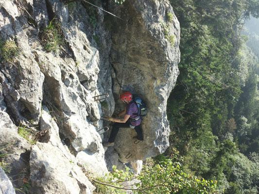 Gisela im obera Teil des Klettersteiges