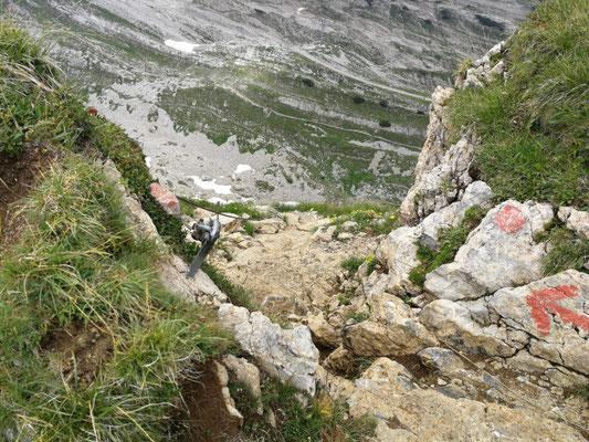 Abstieg Richtung Hahnenköpfle