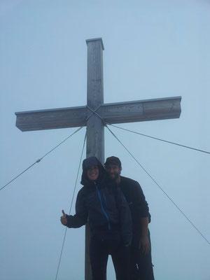 Perfekter Nebel uf am Gipfel des Widderstein