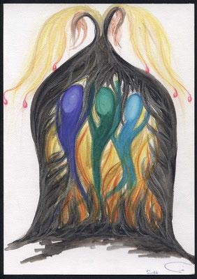 Die drei Freunde im Feuerofen. Bedrängnis ist nicht nur ein Prüfstein oder eine reine Anfechtung, sie läutert uns. Und lässt uns mehr und mehr zu den Menschen werden, die Gott von Anbeginn geplant hat. Uns dienen alle Dinge zum Besten.
