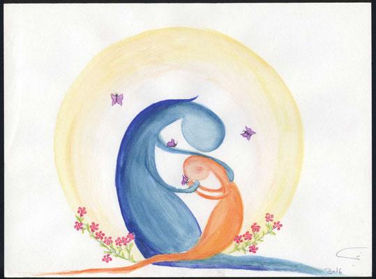 Mein Kind, Meine Sehnsucht nach dir ist so gross. Endlich darf Ich dich in Meine Arme schliessen und an Mein Herz drücken. Danke das du alles mit Mir teilst und Zeit mit Mir verbringst. Ich liebe dich so sehr.