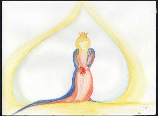 Die Braut Christi. Makellos rein und lieblich geschmückt, bereit für ihren Bräutigam. Umgeben von der Herrlichkeit Gottes.