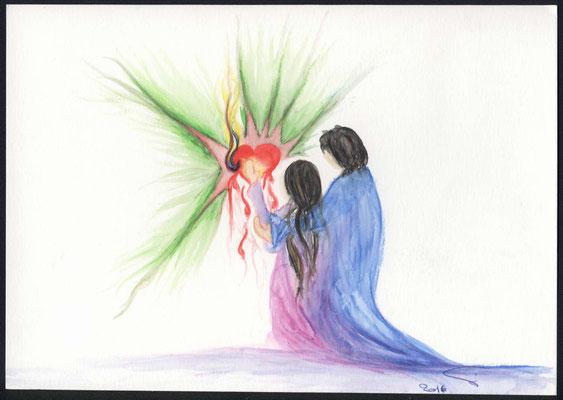 Menschen in Gottes Liebe und Einheit in Solidarität für Gottes Königreich unterwegs. Dieser Dienst tröstet das blutende Herz Gottes.