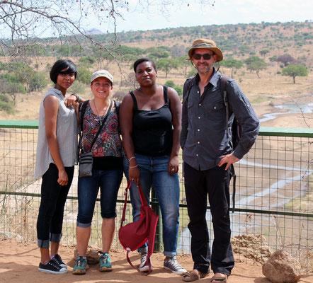 Getrud, Emilie, Laureen et moi