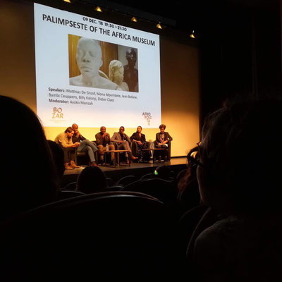 """""""Palimpsest"""", conférence/débat autour de la recherche muséographique menée pendant plusieurs années lors de la rénovation du Musée royal de l'Afrique Centrale à Tervuren ( BOZAR, le 9/12/2018)"""