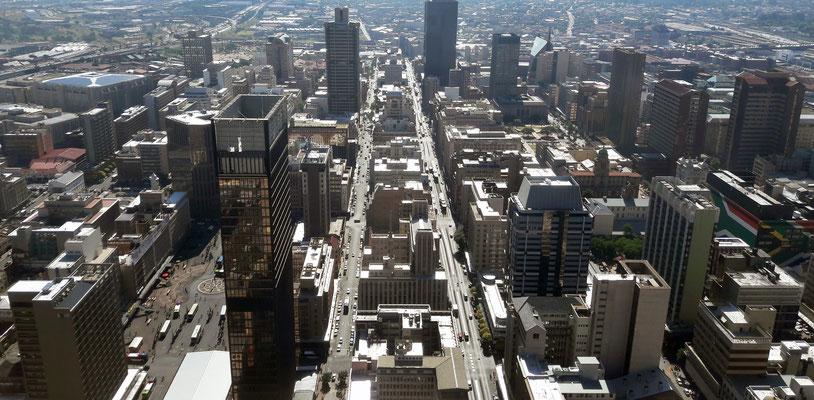 Vue du le ville ancienne depuis Top of Africa à 223m.