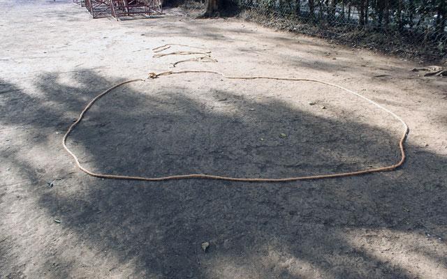 materialisation au sol du diamètre du boma