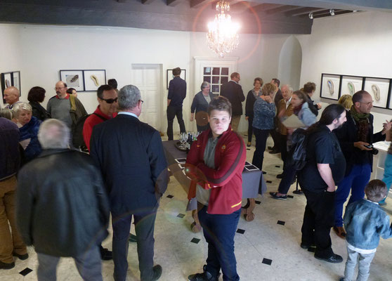 Vernissage de l'exposition. Photo de Alain Cotten