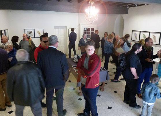 Vernissage de l'exposition. Photo de Alain Cotten