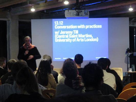 Conversation with Practices w/ Jeremy Till Architectes et intelligences du développement des territoires. Agence 51N4E