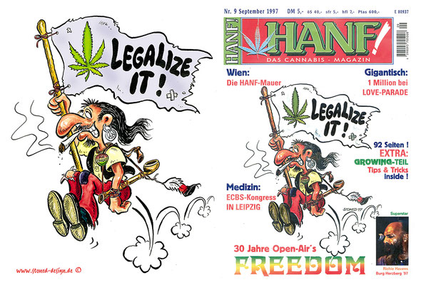 legalize it - coverart - ink & watercolour