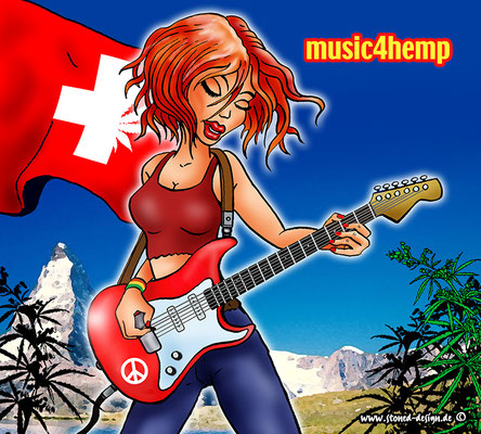 music4hemp - cd cover - ink & digital art