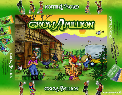 grow a million - cover - ink & digital art