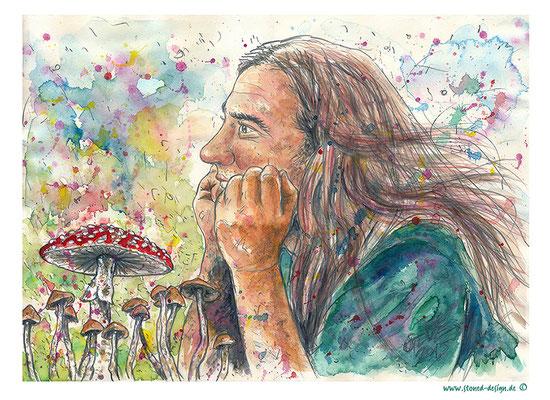 alex - pencil & watercolours
