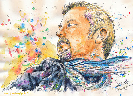 steve - pencil & watercolours