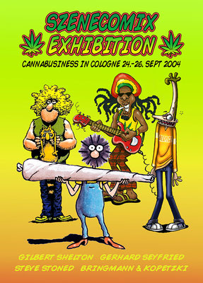 szenecomix exhibition - cannabusiness in cologne 2004 - poster