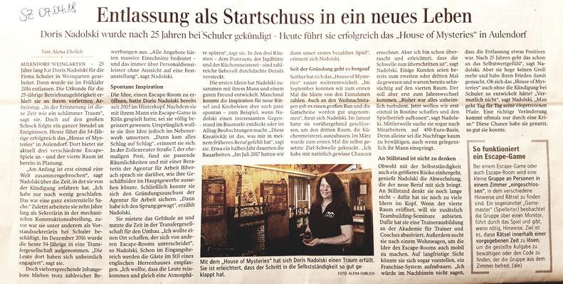 Schwäbische Zeitung vom 07. April 2018
