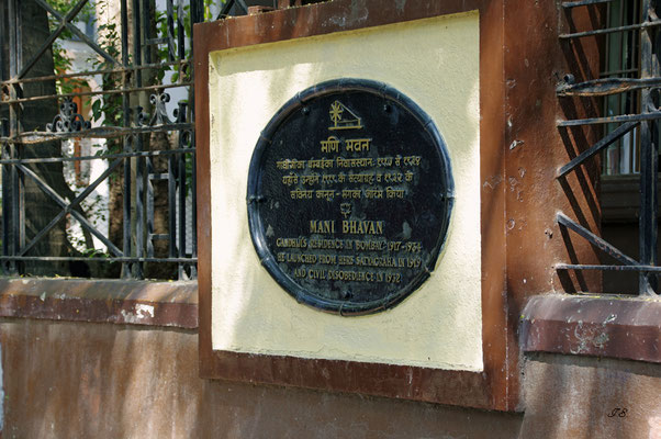 Mahatma Ghandis Wohnsitz