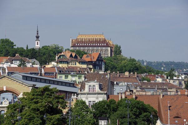 Einfahrt nach Budapest
