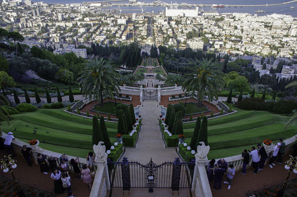 Hängende Gärten und 'Baha'i Shrine'