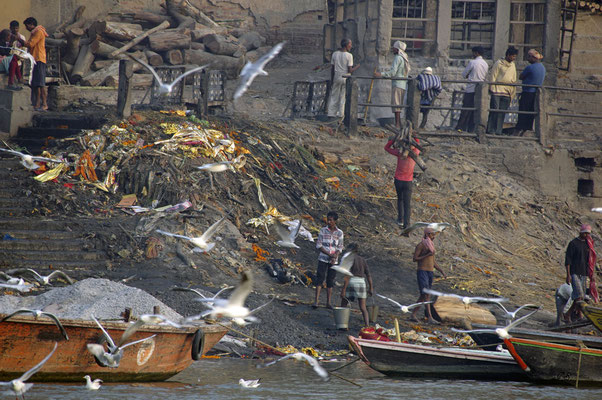 Harishchandra Ghat, Verbrennungsstätte