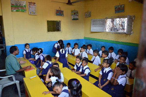 Slumschule in Dhobi Ghat