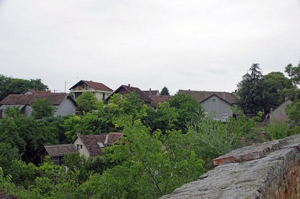 Blick zum Dorf