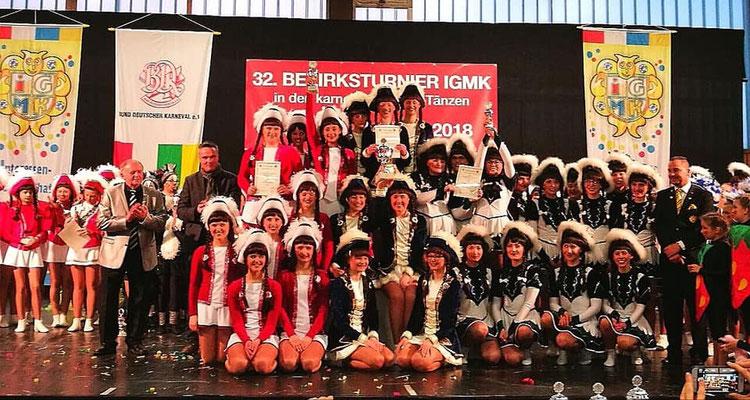 Prinzengarde Bezirksmeisterschaft 2018