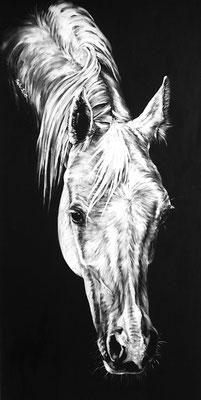 Acryl auf Leinwand 50 x 100 cm (Lebensgross)