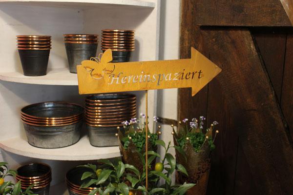 """Gartenschild """"Hereinspaziert"""" für 12,90€"""