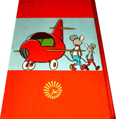 Lustige Mäuseabenteuer, Band 1, Rückseite, rot, 1963 (Buchrücken rot, 1. & 2. Auflage 1963/64; in rot weitere Auflagen)