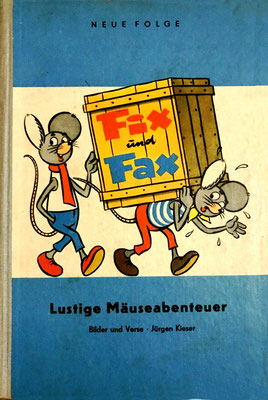 Lustige Mäuseabenteuer, Band 2, Vorderseite, blau, 1964
