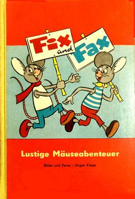 Lustige Mäuseabenteuer, Band 1, Vorderseite, rot, 1963 (Buchrücken gelb, 1. & 2. Auflage 1963/64; in rot weiter Auflagen)