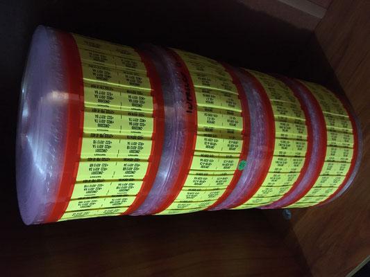 Marquillas TM10-4 marcadas con resolucion de 600 DPI.