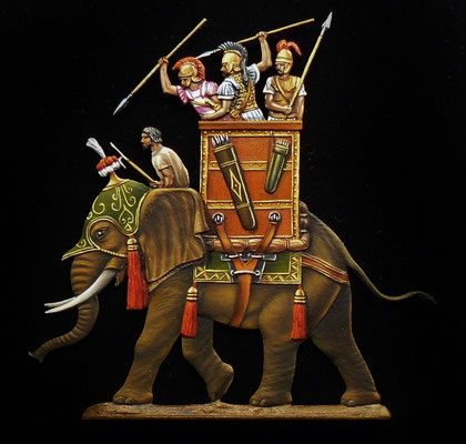 Eléphant carthaginois -édition Berlinerzinnfiguren - 30mm