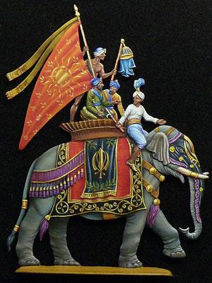 Elephant Sikh - sculpture et édition RIEGER - 30mm