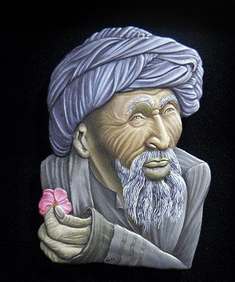 derviche à la rose - 80mm - Edition Jupiter Miniatures - idée de Michel BRASSEUR - dessin de Yasemin Karabenli (Turquie)