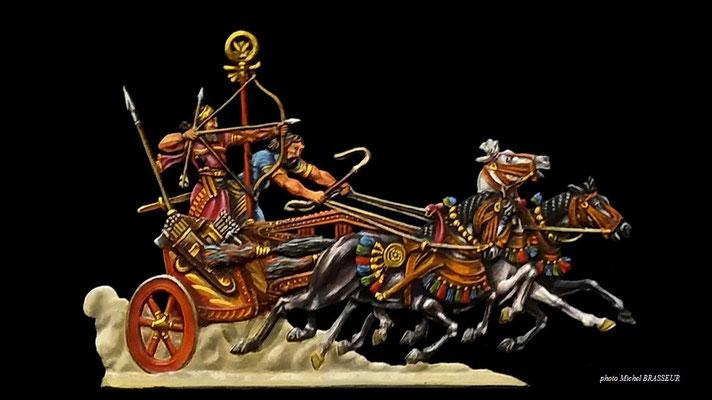 char de guerre assyrien -30mm- édition Ochel- gravure Ludwig Franck