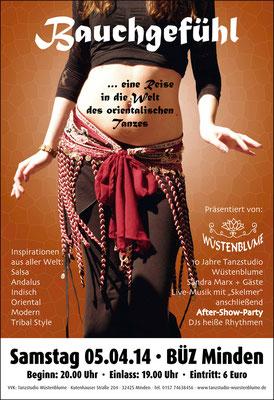 Gestaltung von Plakaten – Tanzstudio Wüstenblume (copyright: LUCCA Studios GmbH)