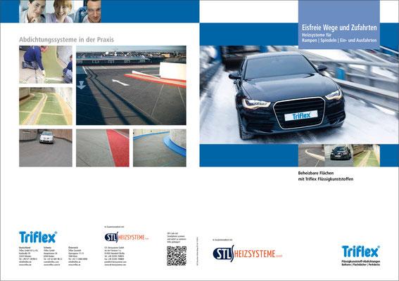 Layout von Broschüren – Triflex GmbH & Co. KG (copyright: LUCCA Studios GmbH)