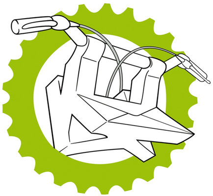 Logo-Entwurf – Fahrradkurier KiezKurierKreuzberg – 3 Ks (copyright: Christian Seidlitz)