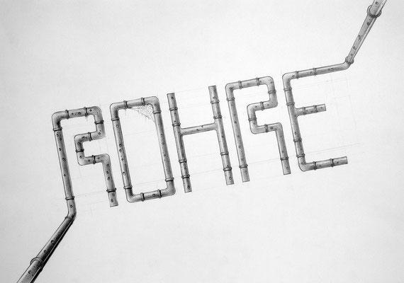 """Rohre"" – Bleistift (copyright: Christian Seidlitz)"