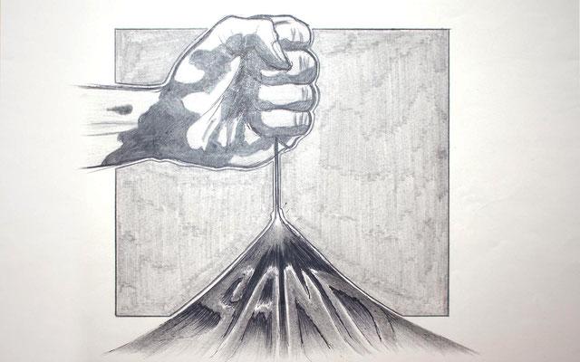 """""""Sand"""" – Bleistift, Kugelschreiber (copyright: Christian Seidlitz)"""