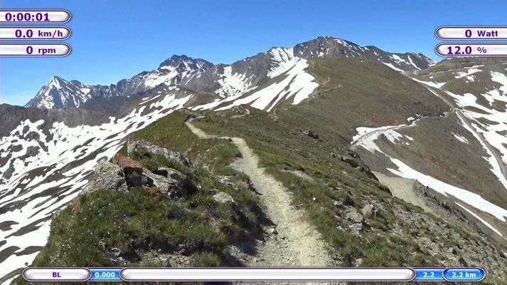 Schmugglertrail in Ischgl mit dem Mountainbike
