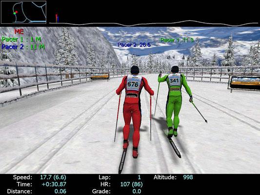 Skilanglauf-Simulator