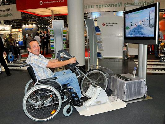 Handbikesimulator, Handbike-Simulator, Rollstuhlsimulator, Rollstuhl-Simulator