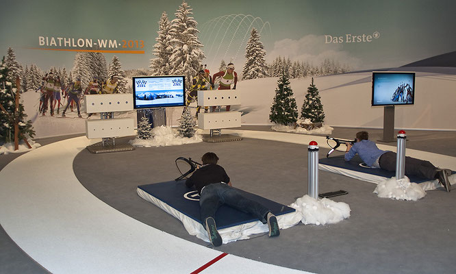 Biathlonsimulator, Biathlon-Simulator, Doppelmodul L