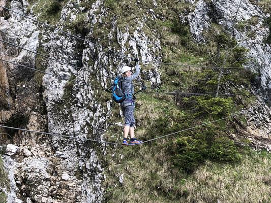 Klettersteig Gelbe Wand : Gelbe wand klettersteig