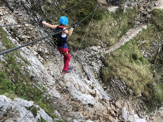 Klettersteig Gelbe Wand : Cooler klettersteig an heißen tagen im montafon